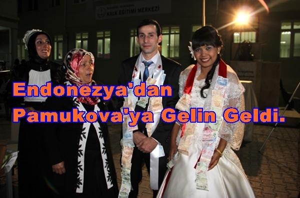 Endonezya Pamukova Gelin Geldi